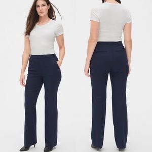 NWT Gap perfect trousers navy hi-rise pants 4r